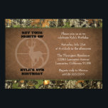 """Camo Birthday Boy Invitations<br><div class=""""desc"""">If you need custom colors or assistance in creating your invitations,  feel free to contact me at zazzlepartydepot@gmail.com. I look forward to hearing from you!</div>"""