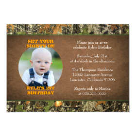 Camo Birthday Boy Photo Invitations 5