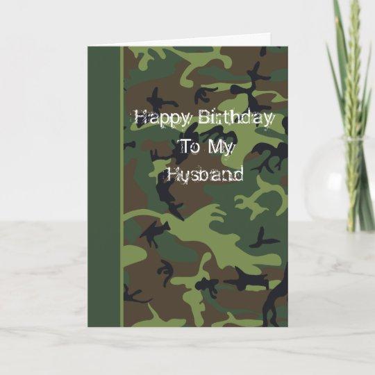 Camo Birthday Card For Husband Zazzle