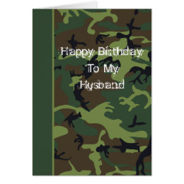 Camo birthday greeting cards zazzle camo birthday card for husband bookmarktalkfo Image collections