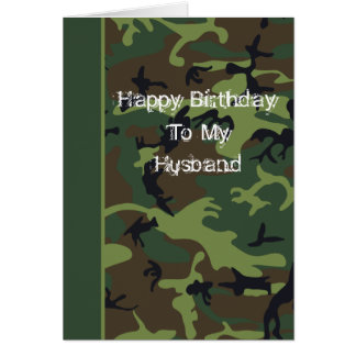 Camo Birthday Card For Husband