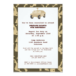 Camo Birthday Party Invite