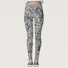 Camo Black and White Leggings
