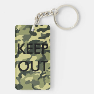 Camo Black Letter Funny Keychain