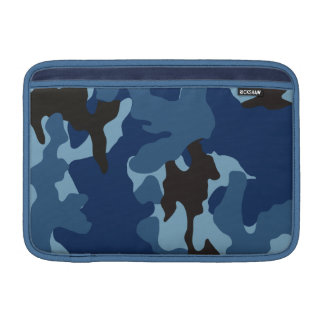 Camo Blue 11 Inch Macbook Air Sleeve - Horizontal