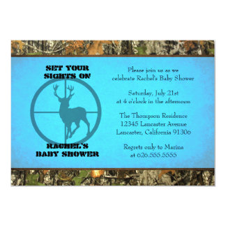 Camo Blue - Baby Boy Shower Invitations