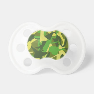 Camo Bold and Colorful Pattern BooginHead Pacifier