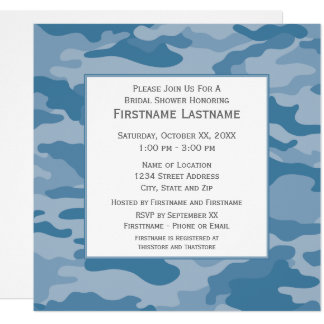 Camo Bridal Shower or Engagement Party Card
