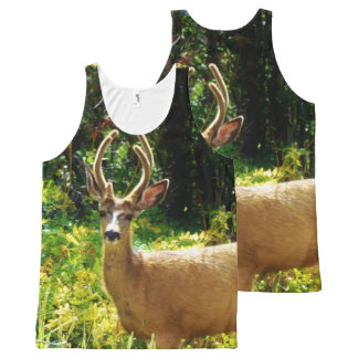 Camo Camouflage deer in leaves All-Over Print Tank Top