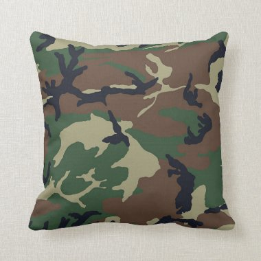 Camo Camouflage Hunting Camp or Home Throw Pillows