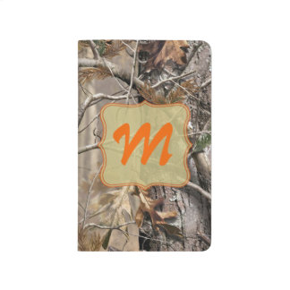 Camo Camouflage Hunting Monogram Initial Journal