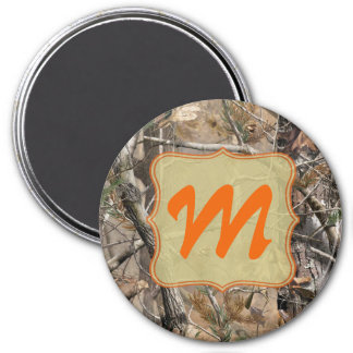 Camo Camouflage Hunting Monogram Initial Magnet