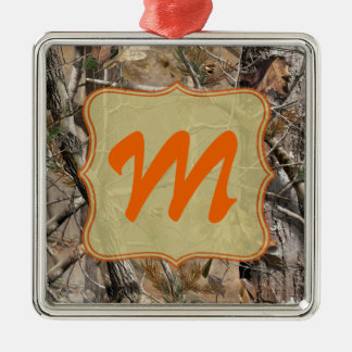 Camo Camouflage Hunting Monogram Initial Ornament Christmas Tree Ornaments