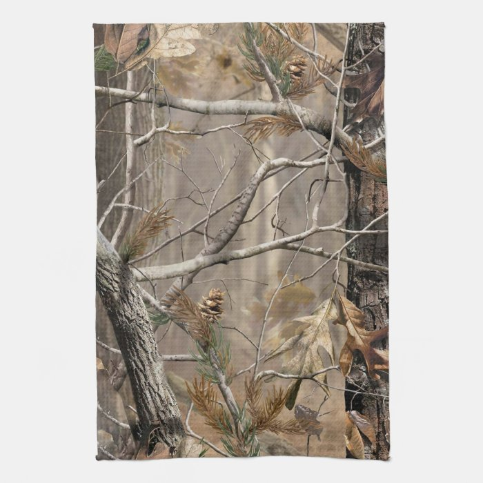 Camo camouflage hunting real kitchen dish towel zazzle for Camouflage kitchen ideas
