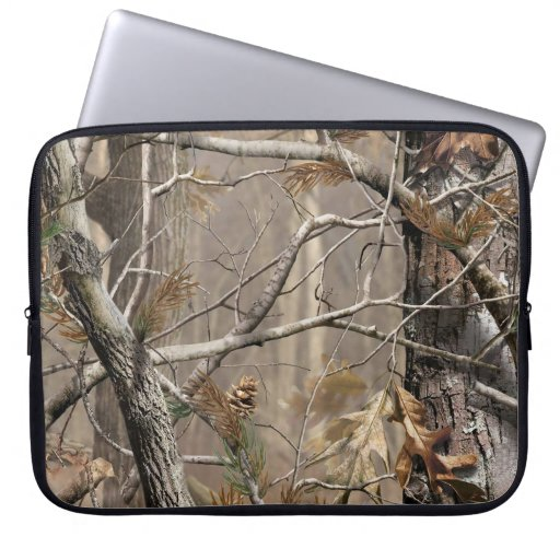 "Zazzle Camo Camouflage Hunting Real Tree 15"" Laptop Case"