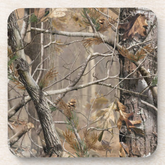 Camo Camouflage Hunting Real Tree Drink Coaster