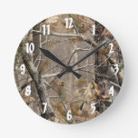 Camo Camouflage Hunting Real Tree Hunt Wall Clock Round Wall Clock