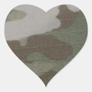 camo Camouflage Pattern Heart Sticker