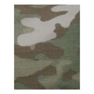 camo Camouflage Pattern Letterhead