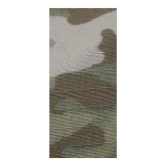 camo Camouflage Pattern Rack Card