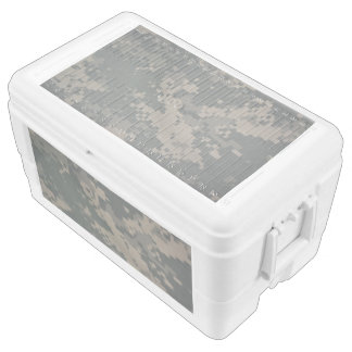Camo Camouflage Pattern Uniform Service Honor Love Ice Chest