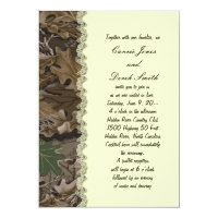 Camo Camouflage Wedding Invitation