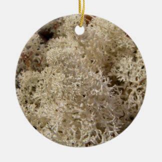 CAMO Caribou Moss Double-Sided Ceramic Round Christmas Ornament