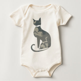 Camo Cat Infant Baby Bodysuit