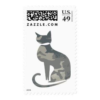 Camo Cat Stamp
