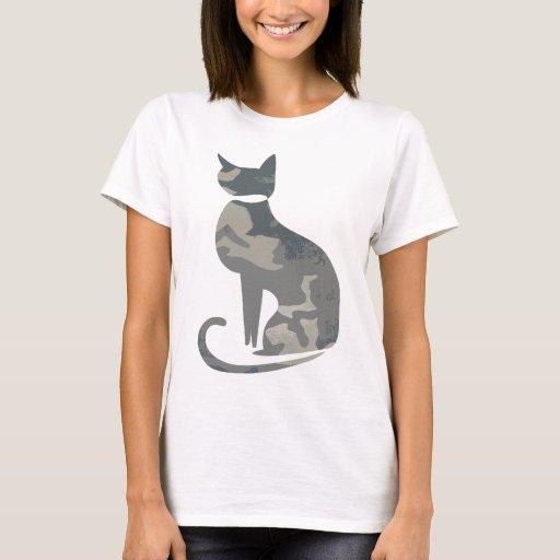 Camo Cat Women 39 S Fitted T Shirt Zazzle
