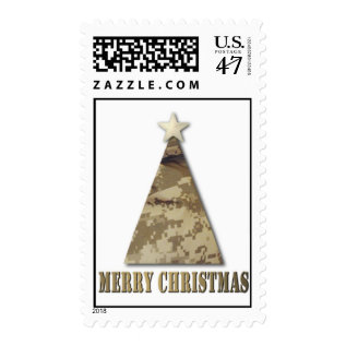 Camo Christmas Tree Postage at Zazzle