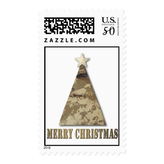 Camo Christmas Tree Postage
