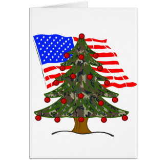 American Flag Christmas Greeting Cards | Zazzle