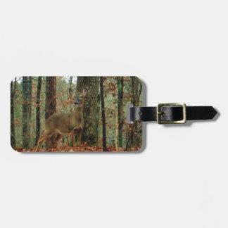 Camo, ciervo del camuflaje etiqueta para equipaje