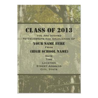 """Camo Class Of 2013 Graduation Invitation 5"""" X 7"""" Invitation Card"""