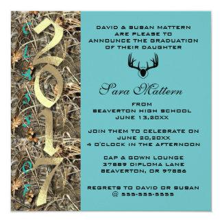 Camo Classic Elegant 2017 Graduation Invitation