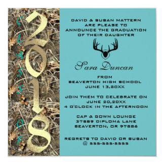 Camo Classic Elegant 2018 Graduation Invitation