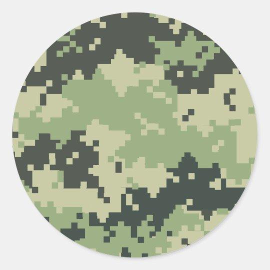 Camo Classic Round Sticker
