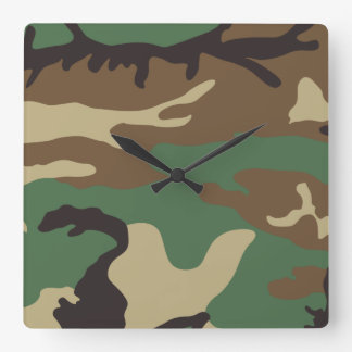 Camo Clock (Available in square & round)