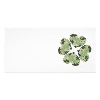 Camo Clover Card