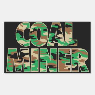 CAMO COAL MINER RECTANGULAR STICKER