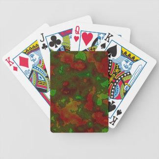 camo colour splash poker deck