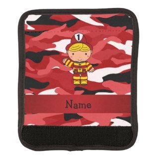Camo conocido personalizado del rojo del bombero funda para asa de maleta