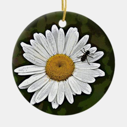 Camo Daisy Ceramic Ornament