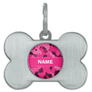 Camo de color rosa oscuro; Camuflaje Placa Mascota