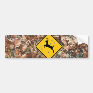 camo deer r15 car bumper sticker