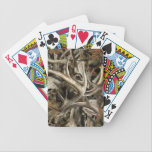 "Camo Deer Skulls Bicycle Playing Cards<br><div class=""desc"">Camouflage Deer Skull Design</div>"