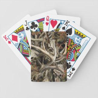 Camo Deer Skulls Bicycle Playing Cards