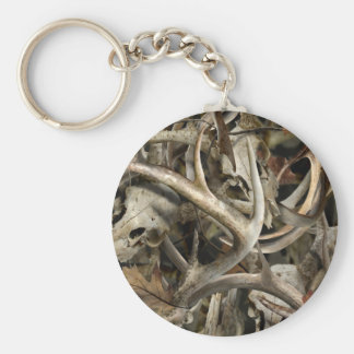 Camo Deer Skulls Keychain