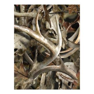 Camo Deer Skulls Letterhead